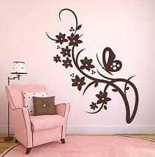Ranke Schmetterling - Deko floral Ornament Wohnzimmer Wandaufkleber WandTattoo