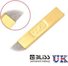 Microblading PCD latón agujas spmu Cejas tatuaje micro Hoja CF tipo 12/14
