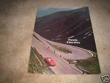 1971 Porsche 911 T E S sales brochure ORIGINAL dealer catalog SUPER NICE RARE!!