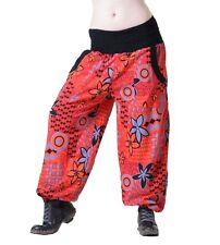 Aladin Pantalones Hippie Pantalón Goa Algodón Pantalón Bombacho rojo/Naranja