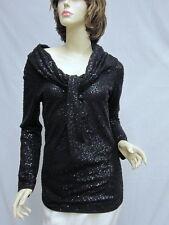 St John Knit COUTURE NWT Black Stud & Paillettes TOP SZ 2 4 RT $1195