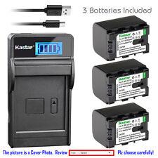 Kastar Battery LCD Charger for JVC BN-VG107 BN-VG108 BN-VG114 BN-VG121 BN-VG138