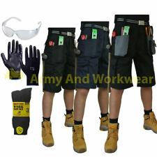 Blackrock Homme Workman Tuff Cargo Travail Short Combat Pantalon Gratuit Gants Specs Chaussettes
