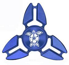 Fidget Spinner Tri-Spinner Aluminum Metal Hibiscus Turtle