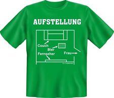 T-Shirt - Aufstellung Fussball Couch Fun Shirt Geburtstag Geschenk geil bedruckt