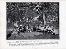 1897 VICTORIAN PRINT ~ TRINIDAD ~ HINDUS SADHU READING RAMAYANA SACRED BOOK