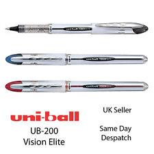 Uniball Vision Elite UB-200 Rollerball Bolígrafo de tinta líquida de 0.8 mm Negro, Azul, Rojo