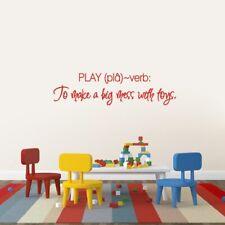 Play Wall Decal - Kids, Nursery, Playroom, Classroom, Wall Sticker, Wall Art