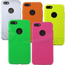 "Pellicola+Custodia cover Flexy Color per Apple iPhone 7 4.7"" case TPU flessibile"