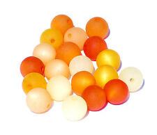 20 Stück Polarisperlen rund Perlenmix Perlenmischung orange gelb Polaris Bacatus