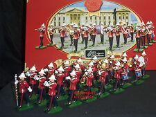 Britains 40293 Royal Marine Banda de infantería ligera de metal conjunto figura soldado de juguete