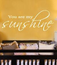 You are my sunshine wall sticker quote design DEC 2 vinyl decor