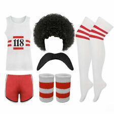 Unisex 118 Fancy Dress Men Women Costume Marathon Retro Vest Short Outfit Lot
