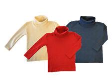 ENGEL Turtleneck MERINO WOOL SILK children boy girl thermal polo neck T-shirt