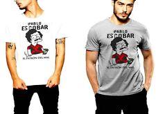 Pablo Escobar T-Shirt Medellin Cartel Plata O Plomo Cartoon Humor Gangster Tee