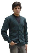 Men's Superfine Alpaca Wool Knitted V-neck Cardigan Golf Sweater