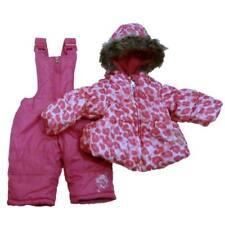 Pacific Trail Infant & Toddler Girls Pink Leopard Snowsuit Ski Bibs Coat Set