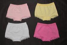 NUOVO Ex M/&S Bianco Misto Cotone Modale Nessun VPL Bikini 2 paia Slip-Taglia 8 a 12