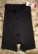 SPANX Slimplicity BLACK Super Control Hi Waist Girl Shorts NEW Womens Sz M L