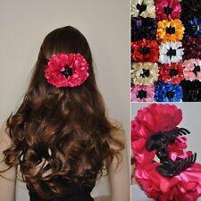 Pince À Cheveux Fleur Satin Barrette/support À Tresses Parure Pour Cheveux