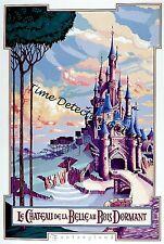 Disneyland Paris Belle Castle Poster - Available in 5 Sizes