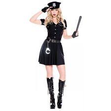 Police Officer Costume Adult Cop Halloween Fancy Dress