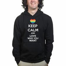 Keep Calm Love Who You Want LGBTQ Sweatshirt Hoodie Shirt