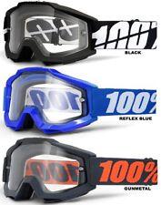 OTG 100% Accuri Motocross MX GOGGLES POR ENCIMA DE CRISTAL Enduro Moto NUEVO