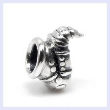 925 Sterling Silver Music Instrument Saxophone Bead for European Charm Bracelet