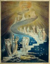 William Blake - Jacobs Ladder Vintage Fine Art Print