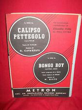 CLAUDIO VILLA Calipso pettegolo + Bongo boy 1959 METRON Spartiti Sheet Music