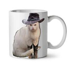 Cowboy Boot Kitty Howdy Cat NEW White Tea Coffee Mug 11 oz | Wellcoda