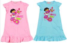 Good quality 100% cotton New Girls Nickelodeon Dora the Explorer summer dress