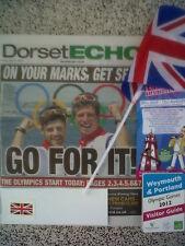 Ben Ainslie 2012 Olympiade SEGELN Weymouth, Echo Papier 27/7/12 PROG + Anleitung NEU