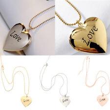 Foto Medaillon Charms Halskette Mini Liebes Herz Form Anhänger Halskette