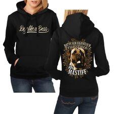 Frauen Kapuzenpullover English Mastiff Dogs Rasse Molosser Begleit Schutzhunde