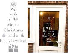 Rimovibile vi auguro buon Natale Albero Adesivo qualsiasi colore