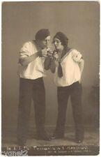 Original Postcard Russian Ballet Mordkin & Balashova Sailors