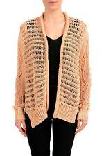 Maison Margiela 1 Beige Distressed Women's Buttonless Cardigan Sweater Sz S M