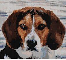 Dog Staring Needlepoint Kit or Canvas (Animal)