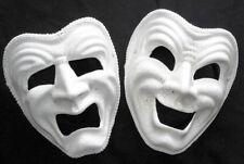 Masquerade tragedia o COMMEDIA FULL FACE CREMA Crackle Maschera con cerchietto RACCORDO