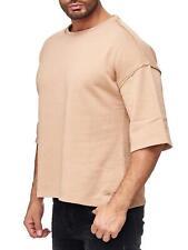 Trbc Men's Big Shirt T-Shirt Jumper Sweatshirt Fitness Bodybuilder Gym Beige