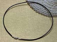 In pelle catena dopo mass 2mm Pelle catene collane PELLE COLLARE NERO 42cm PZ.