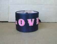 Black Bracelets for Guys - Leather Name Bracelets - Cool Custom Wristbands - XXL