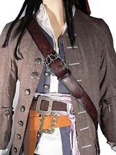 JACK SPARROW SUN + FLOWER + BALDRIC Sword Pirate Belt set of 3 waist belts props