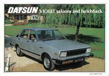 DATSUN Nissan VIOLET Saloon Coupe 1979-81 opuscolo