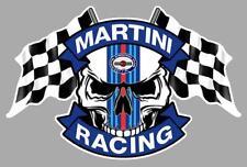 MARTINI RACING Skull / Flags Sticker