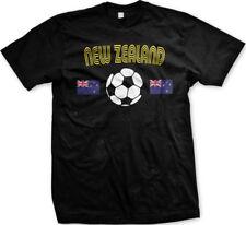 New Zealand National Soccer Team White and Black  Mens T-shirt