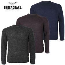 Da Uomo Logoro grande Plus size Twist Lavorato a Maglia Inverno Maglione Waffle Knit Sweater