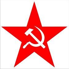 Wandtattoo Sowjetstern, roter Stern, Hammer und Sichel, Folienschnitt 58 cm
